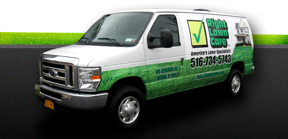 Right lawn care america 39 s lawn specialists call today for Garden maintenance van